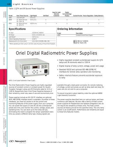 Digital Radiometric Power Supplies