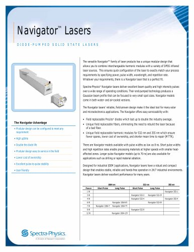 Diode-pumped Solid State Lasers- Navigator™ Lasers
