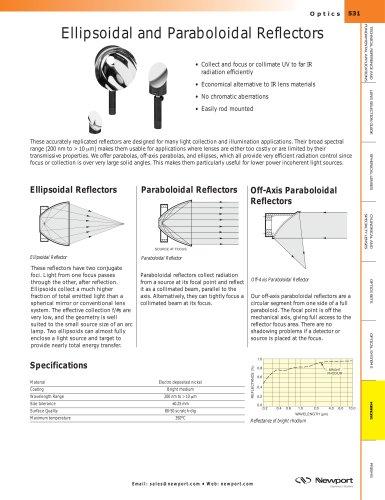 Ellipsoidal and Paraboloidal Reflectors