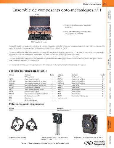 Ensemble de composants opto-mécaniques n°1 M-MK-1