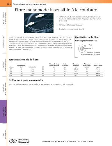 Fibre monomode insensible à la courbure