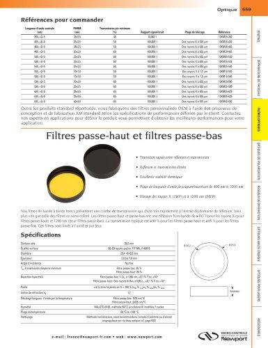Filtres passe-haut et filtres passe-bas