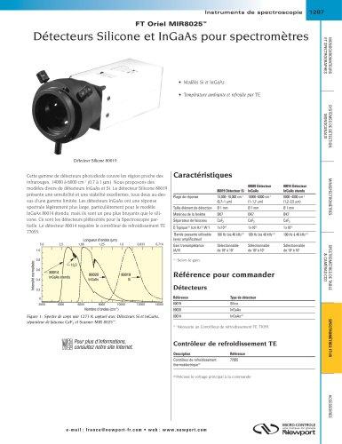 FT Oriel MIR8025™ Détecteurs Silicone et InGaAs pour spectromètres