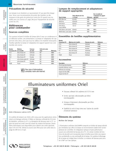 Illuminateurs uniformes Oriel