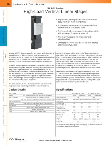 IMS-V Series High-Load Vertical Linear Stages