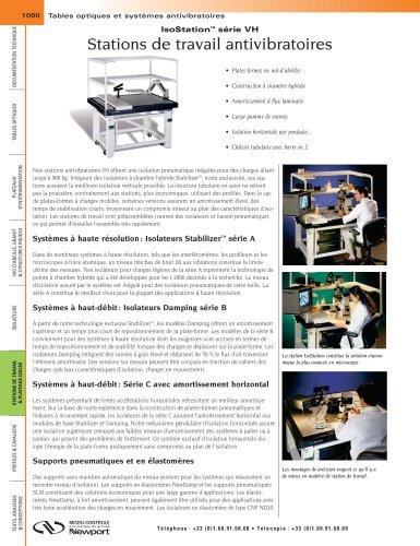 IsoStation™ série VH Stations de travail antivibratoires