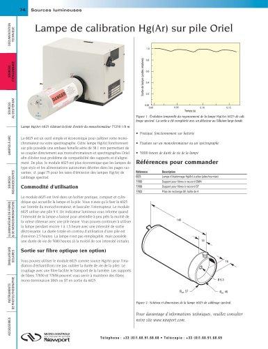 Lampe de calibration Hg(Ar) sur pile Oriel