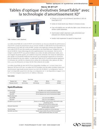 M-ST-UT Serie Aufrüstbare optische Tische der Serie SmartTable® mit IQ® Dämpfungstechnologie