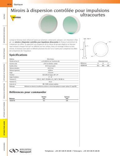 Miroirs à dispersion contrôlée pour impulsions ultracourtes