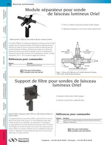 Module séparateur pour sonde  de faisceau lumineux Oriel