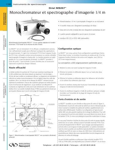 Monochromateur et spectrographe d'imagerie 1/4m Oriel MS257™