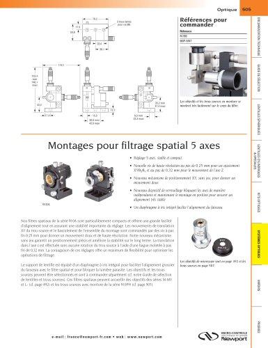 Montages pour filtrage spatial 5 axes