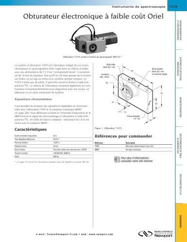 Obturateur électronique à faible coût Oriel