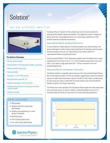 One Box Ultrafast Amplifier-Solstice®