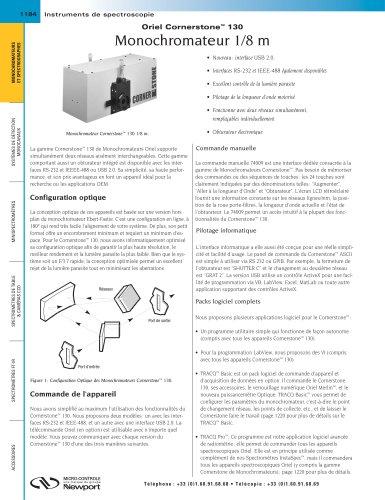 Oriel Cornerstone™ 130 Monochromateur 1/8m