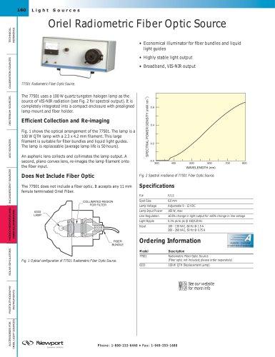Oriel® Radiometric Fiber Optic Source