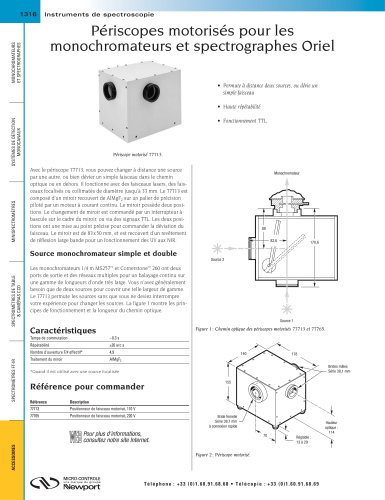 Périscopes motorisés pour les monochromateurs et spectrographes Oriel