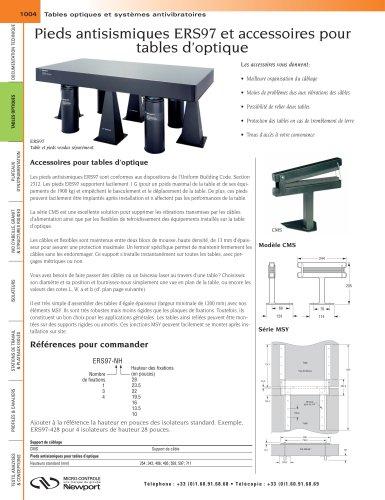Pieds antisismiques ERS97 et accessoires pour tables d'optique, Accessoires de rangement