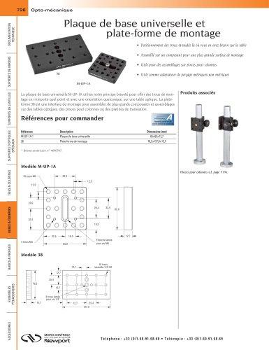 Plaque de base universelle et  plate-forme de montage