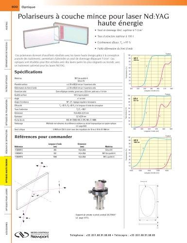 Polariseurs à couche mince pour laser Nd:YAG haute énergie