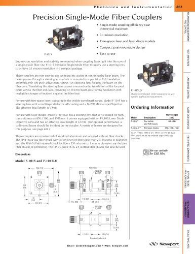 Precision Single-Mode Fiber Couplers