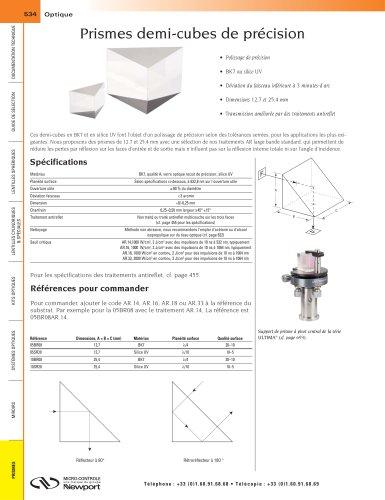 Prismes demi-cubes de précision