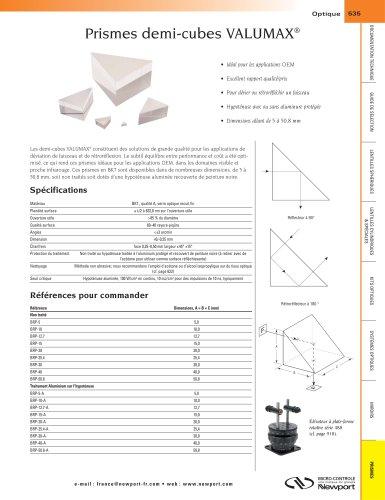 Prismes demi-cubes VALUMAX®