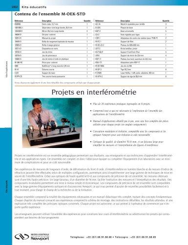 Projets en interférométrie