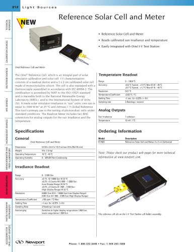 Reference Solar Cell and Meter