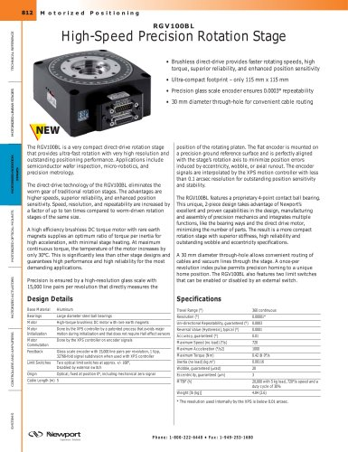 RGV100BL High-Speed Precision Rotation Stage