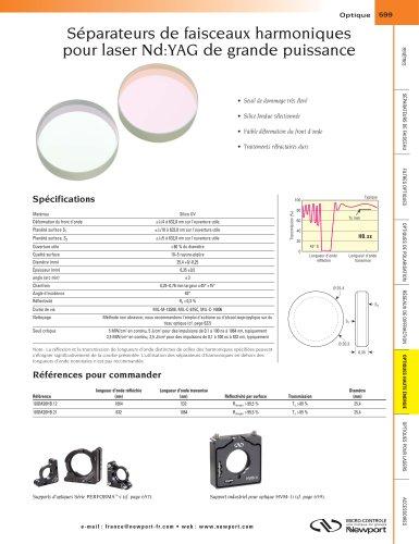 Séparateurs de faisceaux harmoniques  pour laser Nd:YAG de grande puissance
