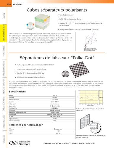 """Séparateurs de faisceaux """"Polka-Dot"""""""