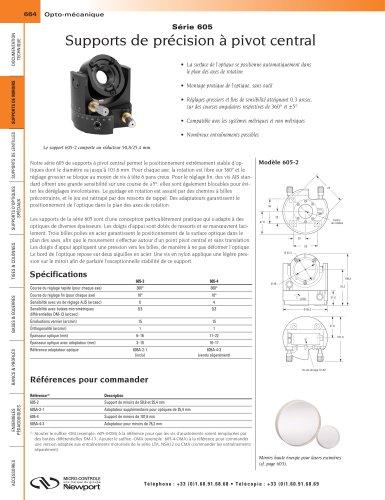 Série 605 Supports de précision à pivot central