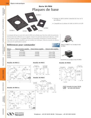 Série M-PBN Plaques de base