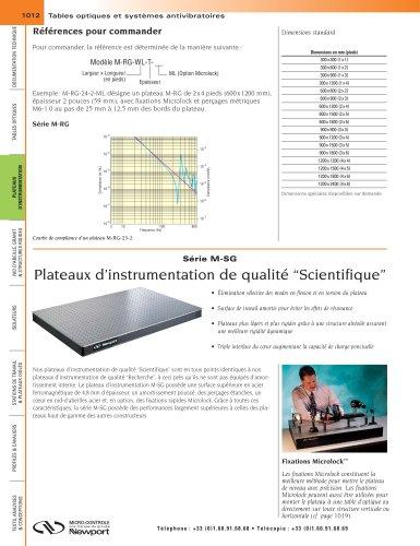"""Série M-SG Plateaux d'instrumentation de qualité """"Scientifique"""""""