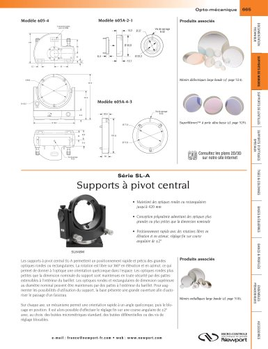 Série SL-A Supports à pivot central