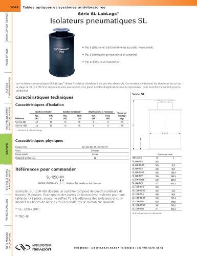 Série SL LabLegs™ Isolateurs pneumatiques SL
