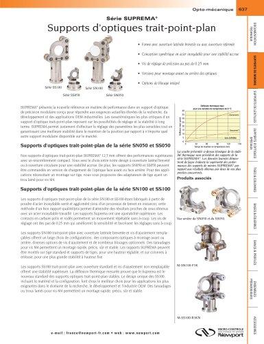 Série SUPREMA® Supports d'optiques trait-point-plan