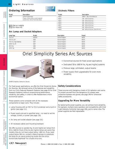 Simplicity Series Arc Sources