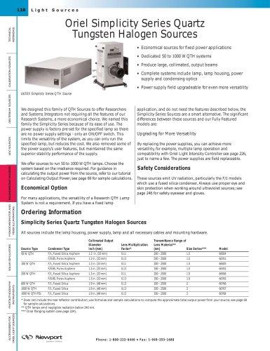 Simplicity Series Quartz Tungsten Halogen Sources