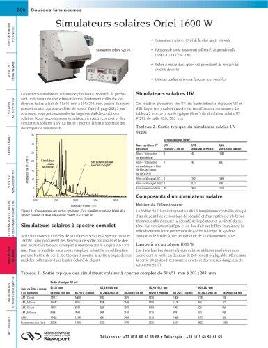 Simulateurs solaires Oriel 1600W
