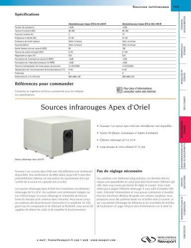 Sources infrarouges Apex d'Oriel