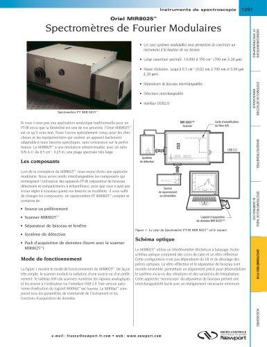 Spectromètres de Fourier Modulaires Oriel MIR8025™