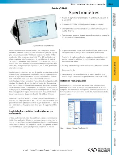 Spectromètres Série OSM2