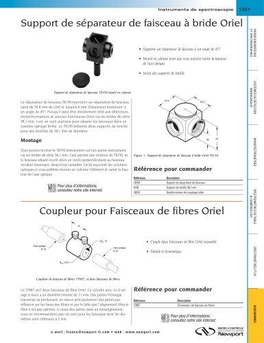 Support de séparateur de faisceau à bride Oriel, Coupleur pour Faisceaux de fibres Oriel