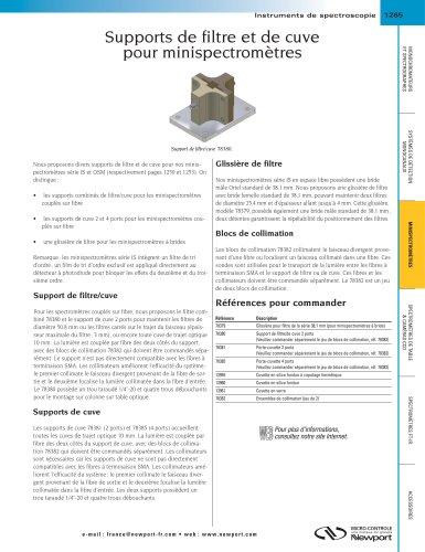 Supports de filtre et de cuve  pour minispectromètres