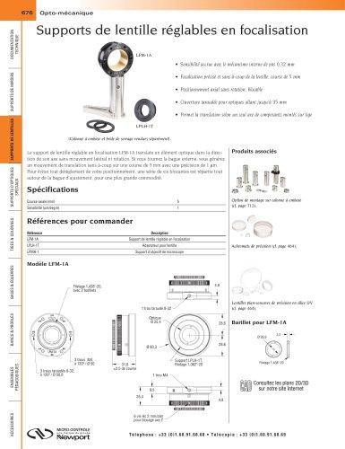 Supports de lentille réglables en focalisation