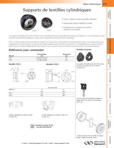 Supports de lentilles cylindriques
