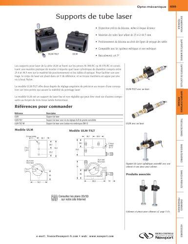 Supports de tube laser