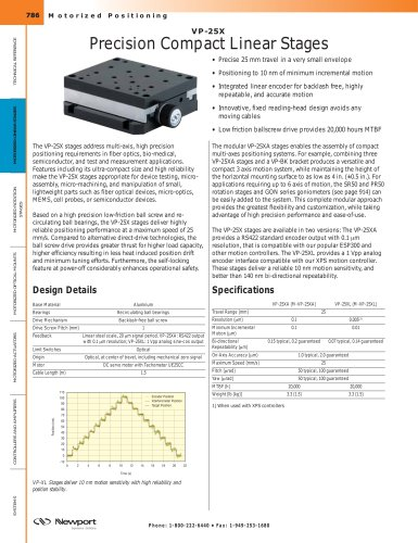 VP-25X Precision Compact Linear Stages